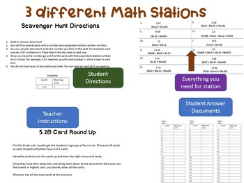 5th Grade Math Ordering Comparing Rounding Decimals