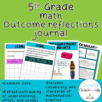 5th Grade Math Outcome Reflections Journal