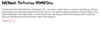 5th Grade Math PLINKO - Fractions