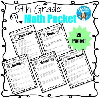 5th Grade Math Packet