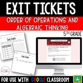 Operations and Algebraic Thinking Exit Tickets {5th Grade}