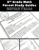 5th Grade Math Parent Study Guides Bundle: ENTIRE YEAR!