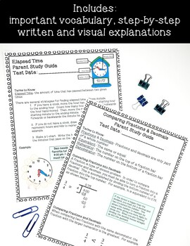 5th Grade Math Parent Study Guides: ENTIRE YEAR!