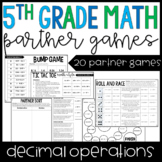 5th Grade Math Partner Games | Decimal Operations