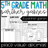 5th Grade Math Partner Games | Decimal Place Value
