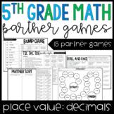 5th Grade Math Partner Games | Decimal Place Value