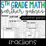 5th Grade Math Partner Games | Fraction Partner Games