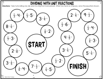 5th Grade Math Partner Games | Fraction Partner Games by Jennifer ...