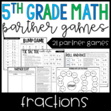 5th Grade Math Partner Games | Fraction Partner Games