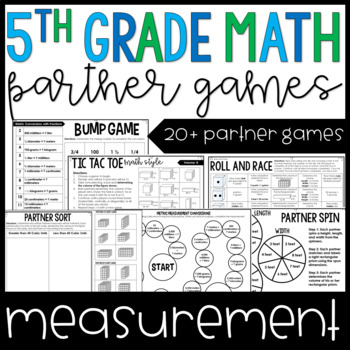 5th Grade Math Partner Games | Measurement Partner Games