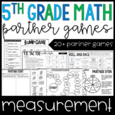 5th Grade Math Partner Games | Measurement Partner Games