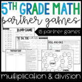 5th Grade Math Partner Games | Multiplication and Division