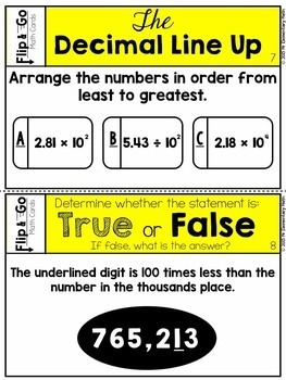 Place Value - 5th Grade Math Flip and Go Cards