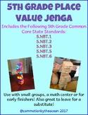 5th Grade Math Place Value Jenga (5.NBT.1, 5.NBT.2, 5.NBT3