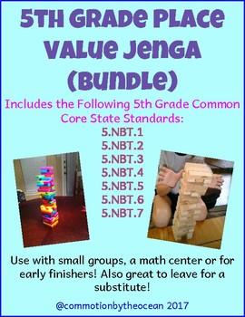 5th Grade Math Place Value Jenga Bundle