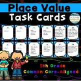5th Grade Math Place Value Task Cards