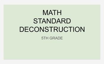 5th Grade Math Planning Template