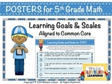 5th Grade Math Posters (5OA.1-3) with Marzano Scales - FREE!
