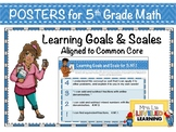 5th Grade Math Posters with Learning Goals and Scales - Al