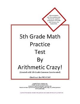 5th Grade Math Practice Test