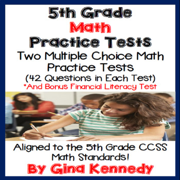 5th Grade Math Practice Tests, Great for Any State 5th Gra