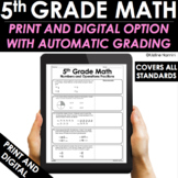 5th Grade Math Practice and Review - Google Classroom - Test Prep