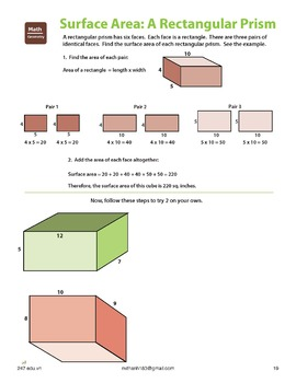 5th Grade Math Practice (with answer key) - 33 pages include