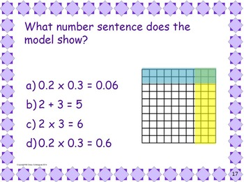 Fifth Grade Math Pretest, Slide Presentation