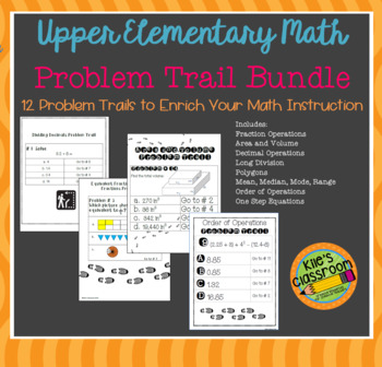 Math Problem Trail Bundle - Add Movement to Your Math Lesson