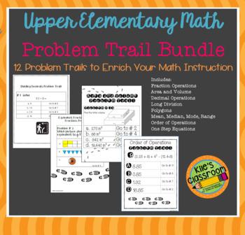 Math Problem Trail Bundle - Add Movement to Your Math Lesson