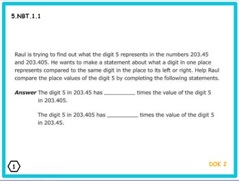 5th Grade Math Problem of the Day PowerPoint-FSA
