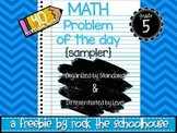 SAMPLE Math Task Cards - Problem of the Day ( 5th grade word problems )