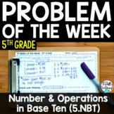 5th Grade Math   Problem of the Week   Number and Operations