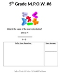 5th Grade Math Problem of the Week_Fractions
