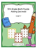 5th Grade Math Puzzle - Adding Decimals