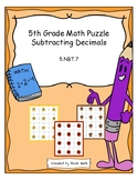 5th Grade Math Puzzle - Subtracting Decimals