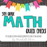 5th Grade Math Quick Checks