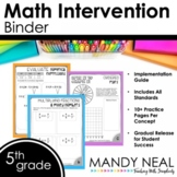 5th Grade Math RTI Intervention Binder