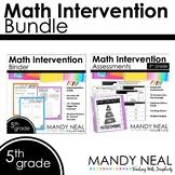 5th Grade Math Interventions Standards Based Bundle