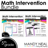5th Grade Math RTI Standards Based Bundle