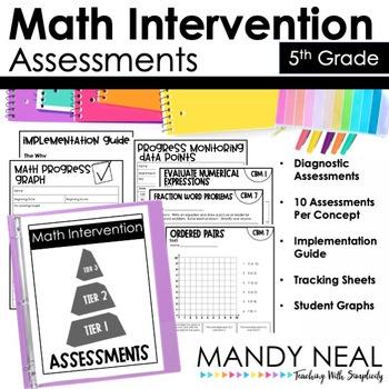 5th Grade Math RTI Standards Based Progress Monitoring