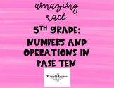 5th Grade NBT Math Race Activity