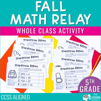 Fall Math Game for 5th Grade   Decimals, Multiplication, Division