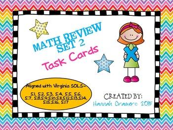 5th Grade Math Review (All Virginia SOLs) Task Cards Set 2