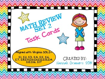 5th Grade Math Review (All Virginia SOLs) Task Cards Set 2