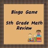 5th Grade Math Review Bingo Game, TCAP Review (flip chart)