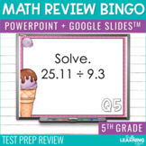 5th Grade Math Review Bingo Game | Test Prep