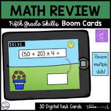 5th Grade Math Review Boom Cards Set 1