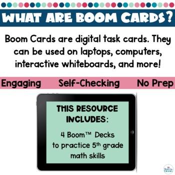 5th Grade Math Review Boom Cards Bundle