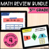 5th Grade Math Review Boom Cards Bundle